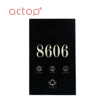 Actop doorplate with room number